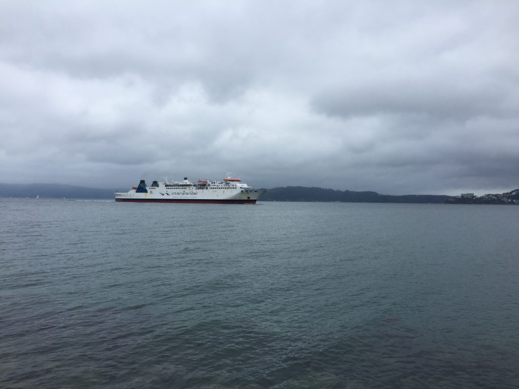 Finally the ferry approaches
