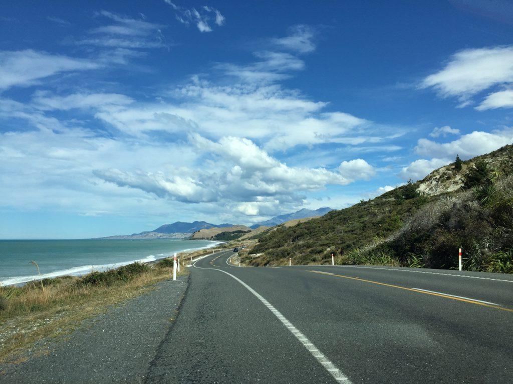 Pacific Ocean next to Highway 1