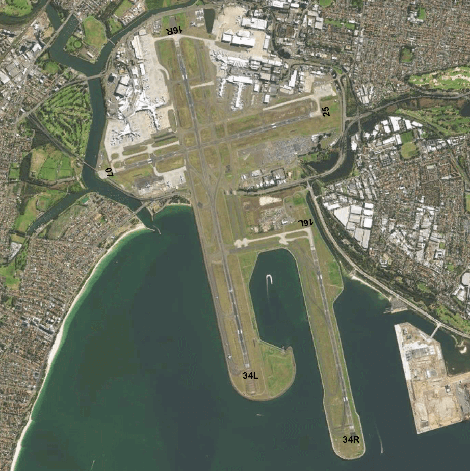 Sydney Airport Runway Map