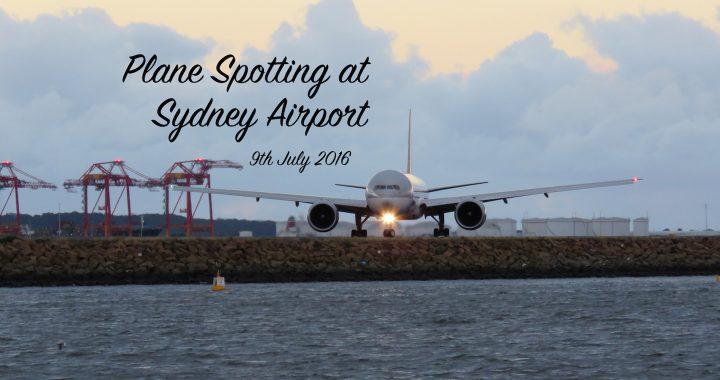 Sydney Plane Spotting 9 July 2016