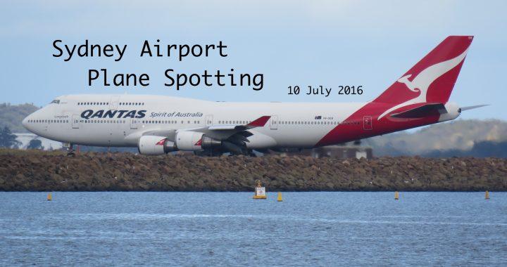 Sydney Plane Spotting 10 July 2016