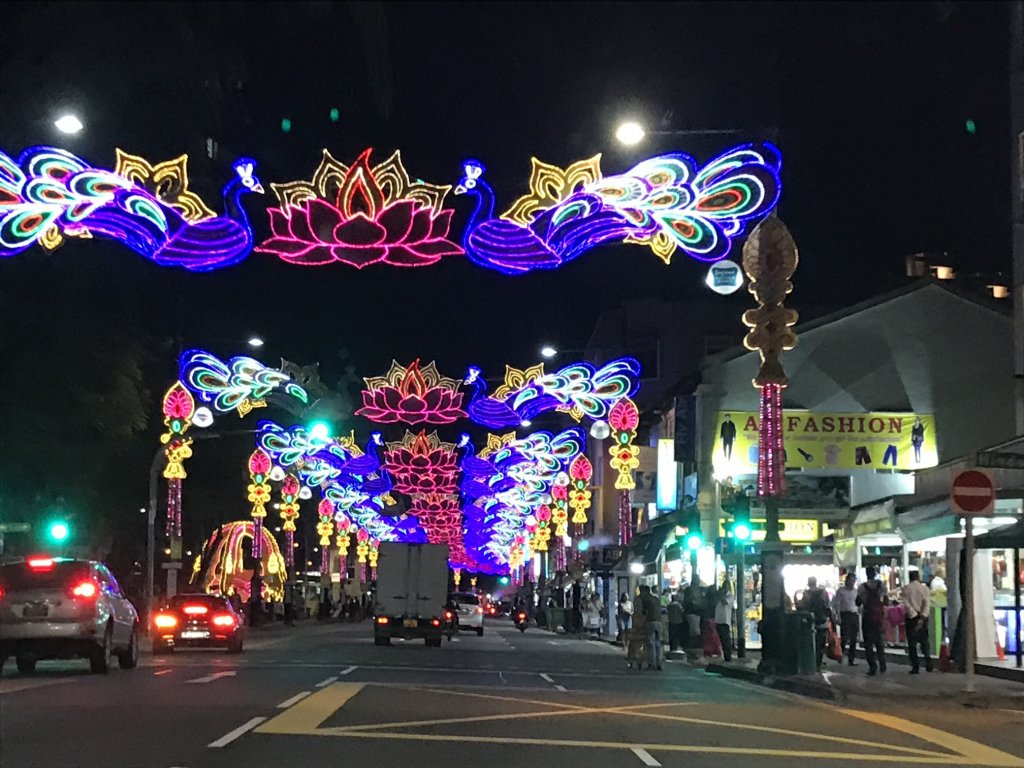 Deepavali Lights on Serangoon Road Little India Singapore