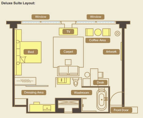 Deluxe Suite Layout