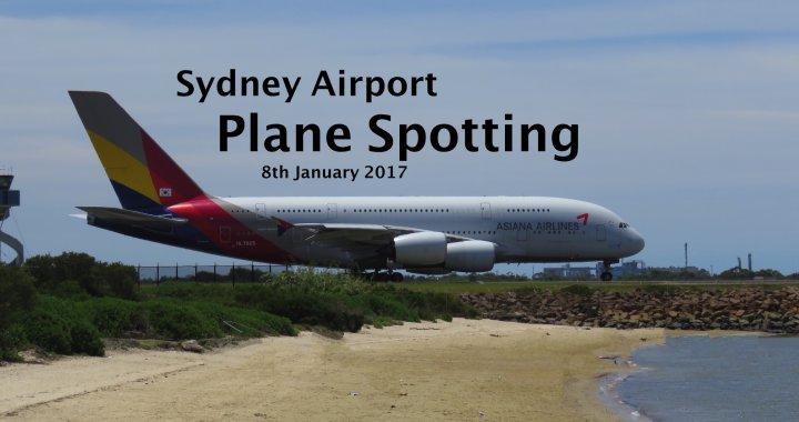 Sydney Plane Spotting 08 January 2017