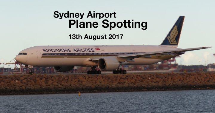 Sydney Plane Spotting 13 August 2017