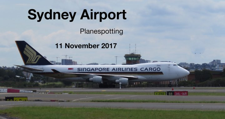 Sydney Airport Planespotting 11 November 2017